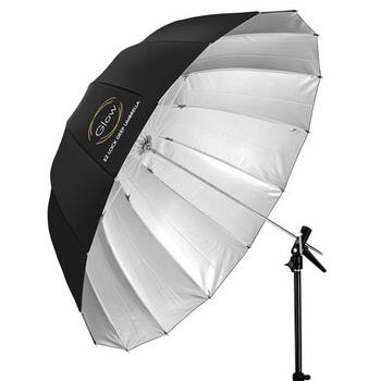 "Rent 4x Glow Easy Lock X-Large Deep Fiberglass Umbrellas (65"") (white, silver, transluscent, and beaded silver)"