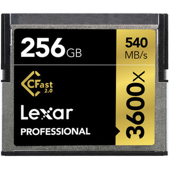 Rent Lexar 256GB Professional 3600x CFast 2.0 Memory Cards