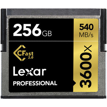 Rent (2) Lexar Professional 256GB 3600x CFast 2.0 Cards