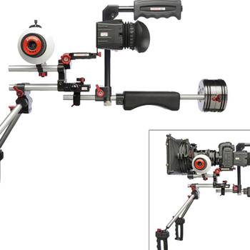 Rent Zacuto Double Barrel Hand Held Rig with Follow Focus