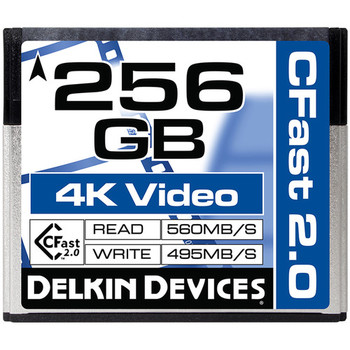 Rent Delkin Devices 256GB Cinema CFast 2.0 Memory Card