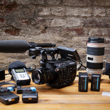 Rent RUN & GUN | Sony FS5 Kit with Metabones, Canon Lens Kit, Wireless Lav Kit & more
