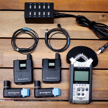 Rent WIRELESS LAVS + RECORDER | Sennheiser AVX Wireless Lavs & Zoom H4n Recorder