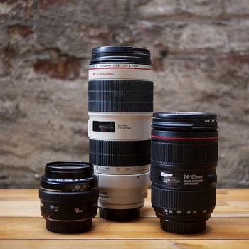 Rent CANON LENS KIT | 24-105 mm, 50 mm, 70-200 mm