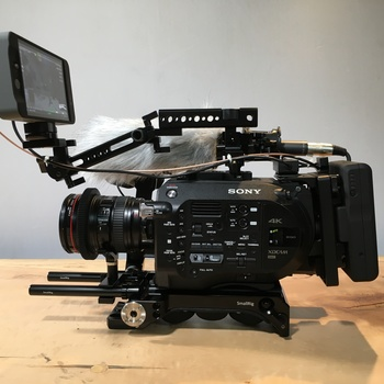 Rent fs7 + metabones + 24-105 + AB batteries + smallhd 502 + a7sii + rhino motion control + lighting + audio documentary kit