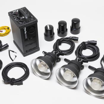 Rent Profoto Pro 7a 2400 w/s Studio Strobe Power Pack, 3 x Pro 7 Strobe heads, 2 head extension cords, 2 Sync cables