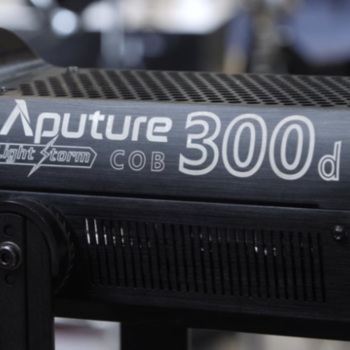 Rent Aputure 300d with light dome, grid, space light and Fresnel