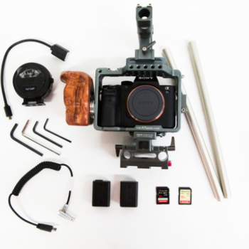 Rent Sony Alpha A7S II Miroless Camera w/ Tilta cage/EF adapter/Rode VideoMic Pro