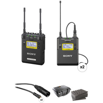 Rent Portable Receiver with Two Bodypack Transmitters