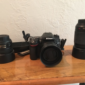 Rent Nikon D7100 camera with 3 lenses