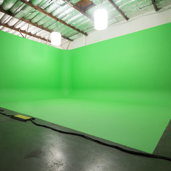 Rent Los Angeles › Locations / Spaces › Studio/Stage 7,000 sq ft stage w/ 25ft high Green Screen and White Cyc