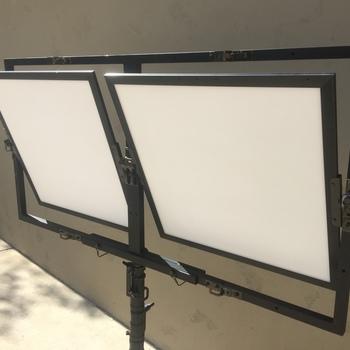 Rent Fill-Lite Wall Unit. 2 2'x2' LED Daylight Panels. Rental includes 2 Wall Units (2 Frames & 4 panels)