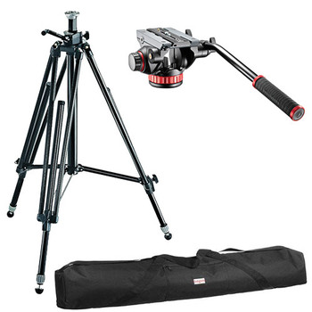 Rent Manfrotto 028B Video Tripod with 502HD Pro Fluid Head