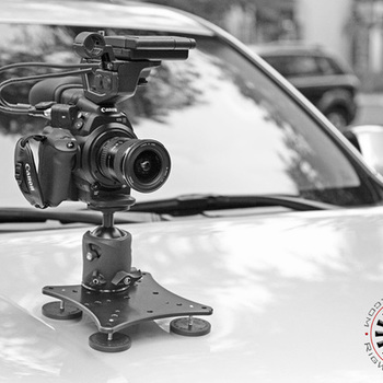 Rent Rig Wheels magnetic car mount with ball head mount