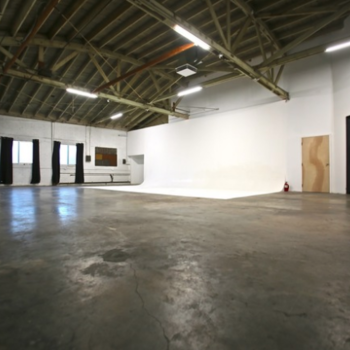 Rent 5000sq ft warehouse studio space w/30' cyc in Echo Park.