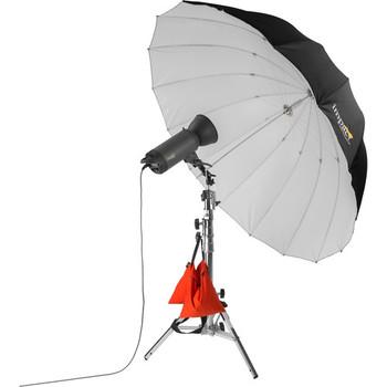 "Rent Impact Deep Silver Umbrella X-Large 65"""