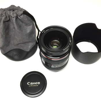 Rent Canon 24-70mm f2.8 l USM with UV filter and Lens Hood