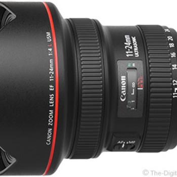 Rent Canon EF 11-24mm f 4L USM Lens