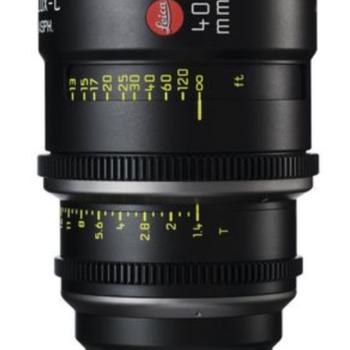 Rent 40mm Leica Summilux-C T1.4 Lens