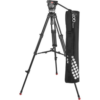 Rent Sachtler Ace M Fluid Head with 2 stage aluminum tripod with mid-level spreader