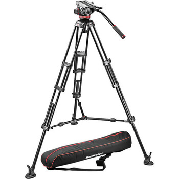 Rent Manfrotto MVH502A Fluid Head and 546B Tripod System with Carrying Bag
