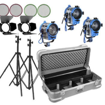 Rent Arri Compact Fresnel Three-Light Kit, 650w and 2-300W