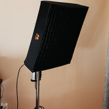 Rent 2x FalconEyes 24tdx flexible LED with soft box and grid