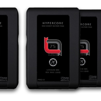 Rent 4X V-Lock Battery Hypercore SLIM 7 RED + Charger