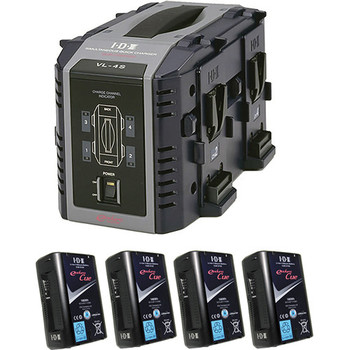 Rent 4x V-Mount Batteries and Charger