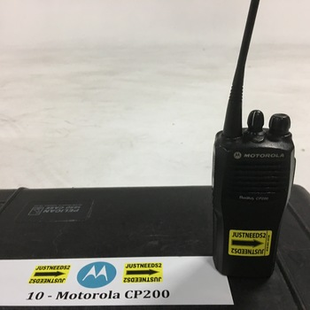 Rent 10 Motorola CP200 16 Channel Walkie Talkies Radios
