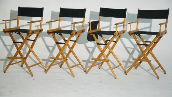 4 Telescope Tall Directors Chairs. Dsc01327