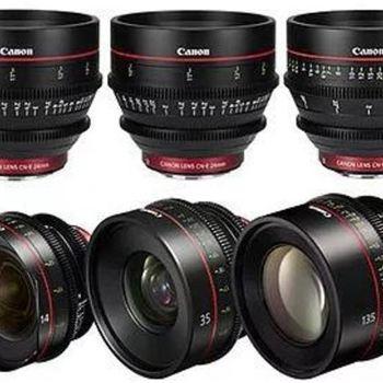 Rent Canon Cinema Prime 6 Lens Set