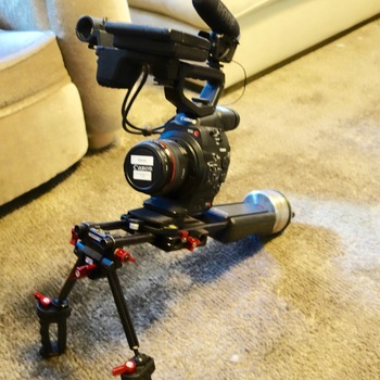 Rent CANON C300 w/EVERYTHING YOU NEED TO SHOOT- Comes w/4 Ultrasonic Lenses, Zacuto Shoulder Mount, Rode Shotgun!