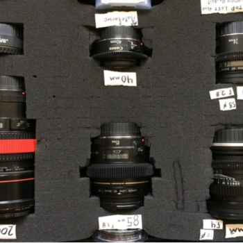 Rent Canon Primes Set with gears (15, 24, 40, 85, 200L)