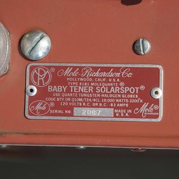 Rent 10,000 Watt 10K Mole Richardson MoleQuartz Baby Tener