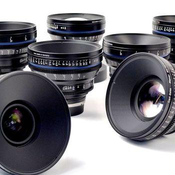 Rent ZEISS / Arri Compact Primes CP.2 - 7 Lens Set
