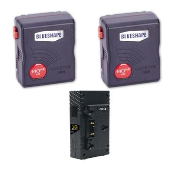 Rent 2x BLUESHAPE Granite Mini 140Wh Gold Mount Kit w/charger
