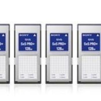 Rent 4x Sony 128GB SxS Pro Plus Memory Card