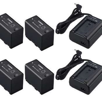 Rent POWER BUNDLE - x4 Canon BP-975 Batteries w/ x2 Chargers