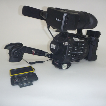 Rent Sony FS7 kit with raw back, gold mount, Metabones EF adapter, 2 AB batteries and media