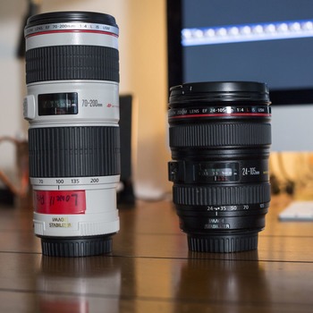 Rent Canon 70-200mm f4 Lens + Canon 24-105mm f4 lens