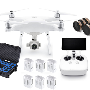 Rent DJI Phantom 4 Pro+ Bundle, Case, 6 x Batt., NDs, HDMI to client