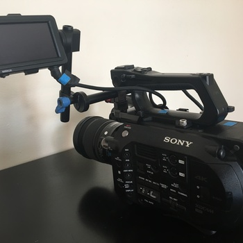 Rent Sony FS7 with speedbooster, batteries, cards, lenses, Sachtler FSB4 Tripod