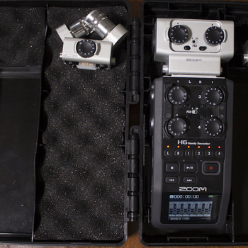 Rent Zoom H6 with Omni, X Y, and XLR expansions.