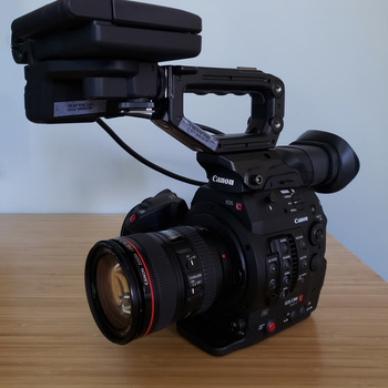 Rent Canon EOS C300 Mk ii EF Documentary Kit (Tripod + Lens + Sound)