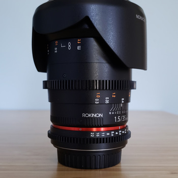 Rent Rokinon 35mm T1.5 Cine Lens with EF mount
