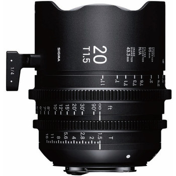 Rent Sigma 20mm T1.5 FF High-Speed Prime (PL Mount, Feet)