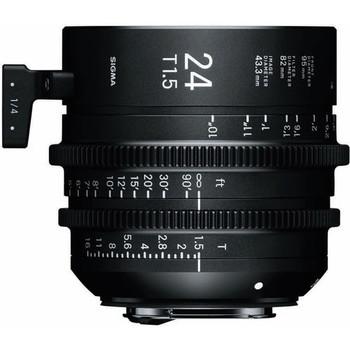 Rent Sigma 24mm T1.5 FF High-Speed Prime (PL Mount, Feet)