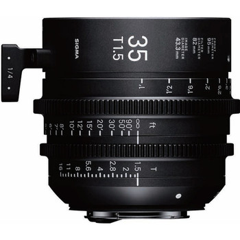 Rent Sigma 35mm T1.5 FF High-Speed Prime (PL Mount, Feet)
