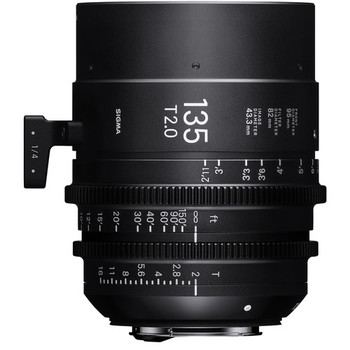 Rent Sigma 135mm T2.0 FF High-Speed Prime (PL Mount, Feet)